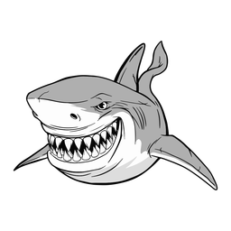Shark aquatic animal illustration shark