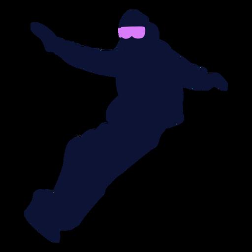 Silhueta de snowboard esporte snowboard