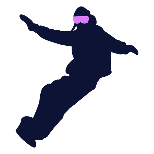 Snowboard sport silhouette snowboarding