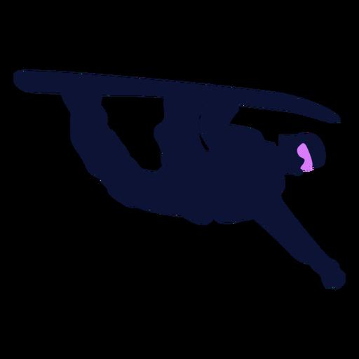 Snowboarder trick silhouette