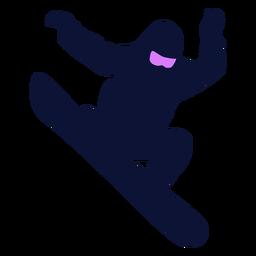 Silhueta de truque de snowboard