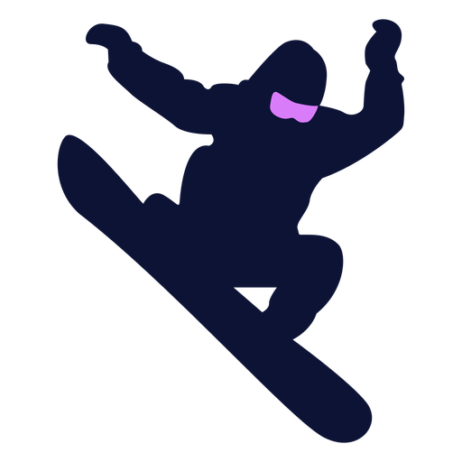 Snowboarding trick silhouette Transparent PNG