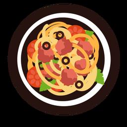 Spaghetti italian cuisine flat