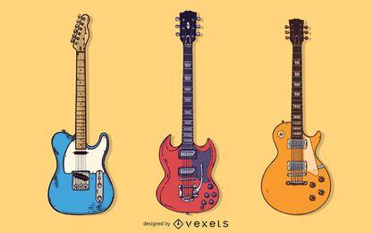 Gitarren-freier Vektorsatz - unterschiedliche Form