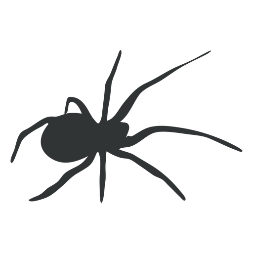 Spider eight legged silhouette