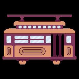 Plano de vehículo de tranvía