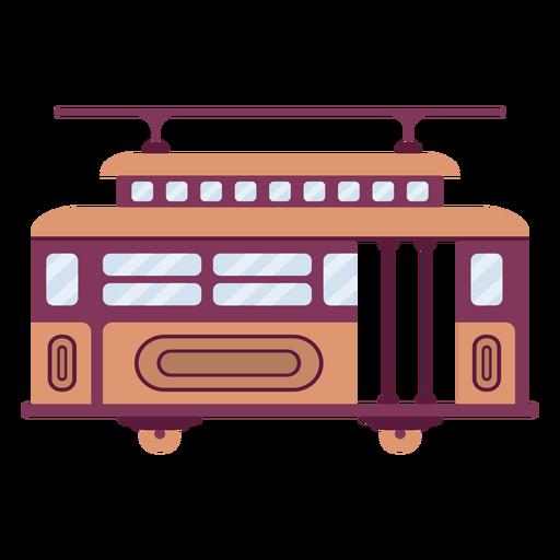 Streetcar vehicle flat Transparent PNG