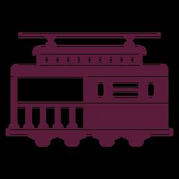 Lado del vehículo del tranvía