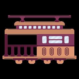 Plano lateral del vehículo del tranvía