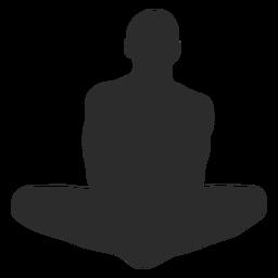 Estirar la silueta de la meditación del yoga
