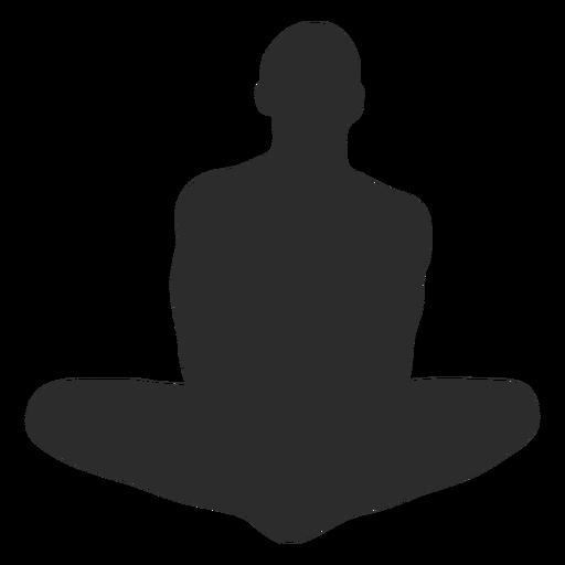 Estirar la silueta de la meditaci?n del yoga