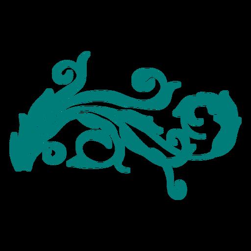 Enfeite de borda vitoriana com redemoinho Transparent PNG