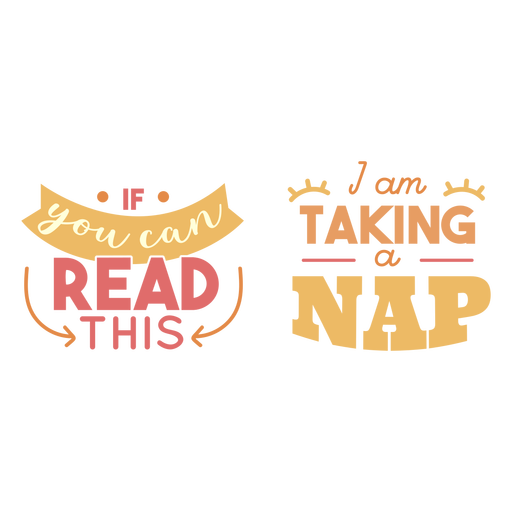 Taking a nap lettering