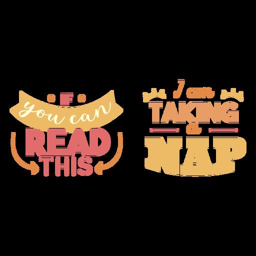 Tirando uma soneca lettering