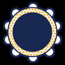 Tambourine polka dots instrument stroke