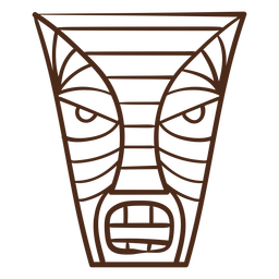 Tiki hawaiian stroke