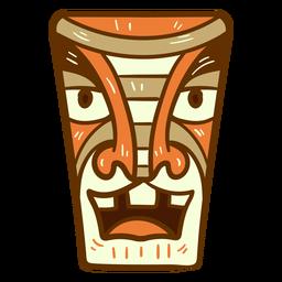 Tiki mask flat
