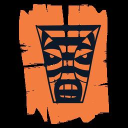 Tiki mask orange