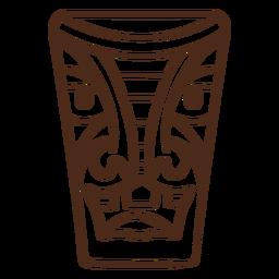 Tiki mask stroke