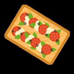 Plano de tomate y mozzarella