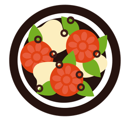 Ensalada de tomate plana