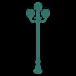 Triple street lamp vintage