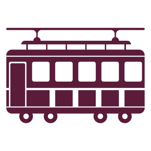 Trolley vehicle side Transparent PNG