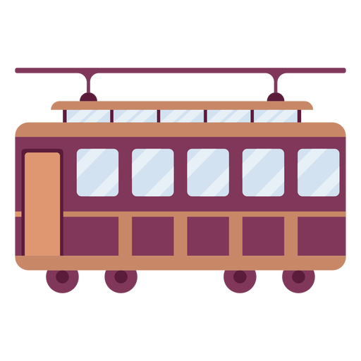 Trolley vehicle side flat Transparent PNG