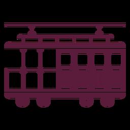 Vehículo tranvía vintage