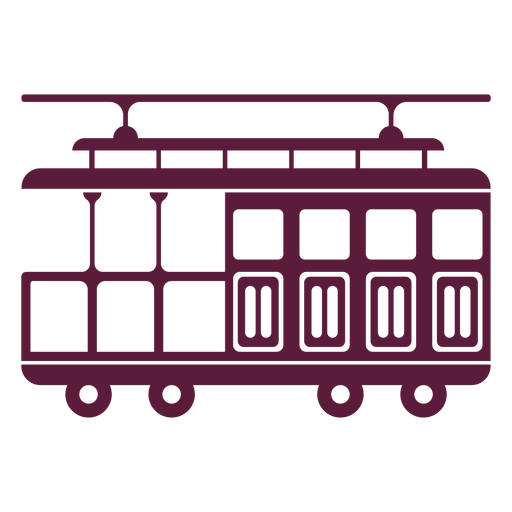 Vintage streetcar vehicle Transparent PNG