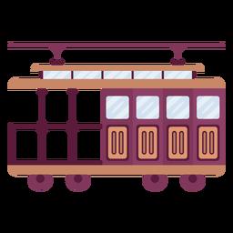 Plano de vehículo tranvía vintage