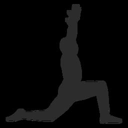 Krieger Yoga Pose Silhouette