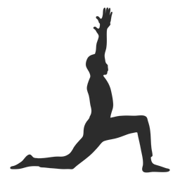 Warrior yoga pose silhouette
