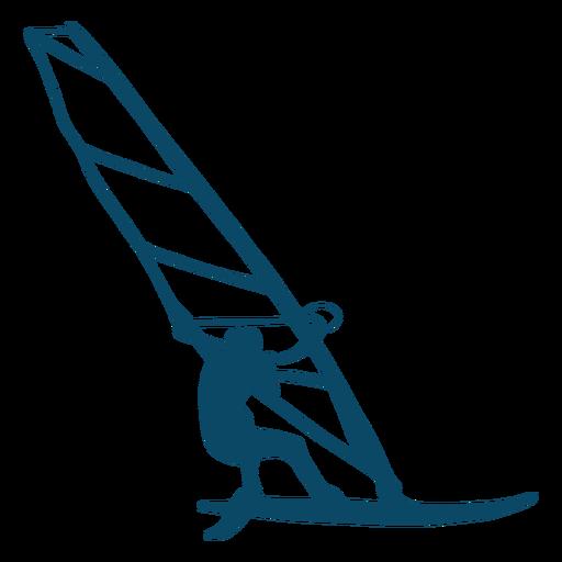 Silueta de windsurf de deporte acu?tico