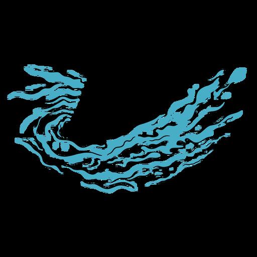 Agua de onda agua dibujada a mano