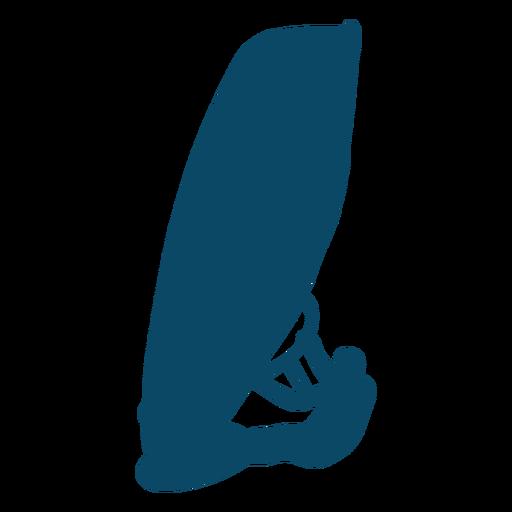 Silueta de océano de windsurfista