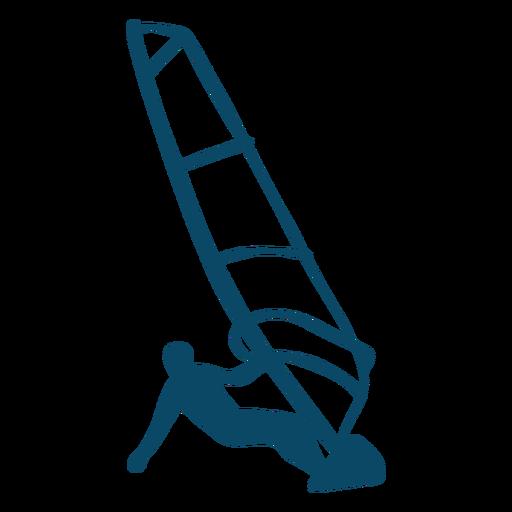 Silueta de acción de windsurf Transparent PNG