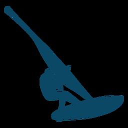 Windsurfing man silhouette