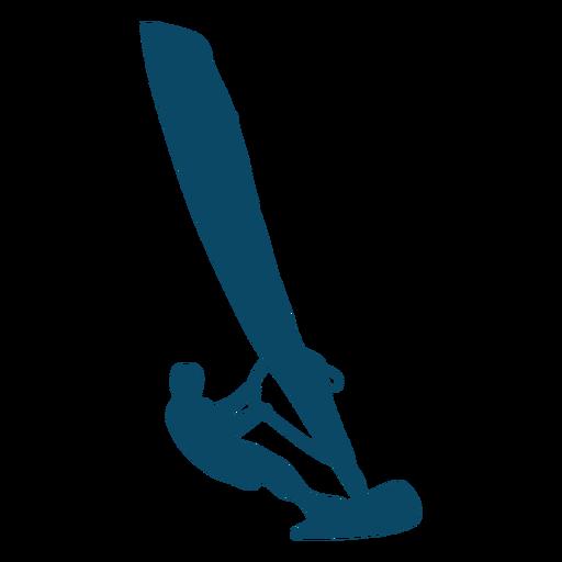 Windsurfing sport silhouette windsurfing