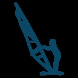 Windsurfing surfer silhouette