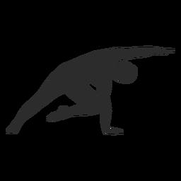 Silueta de estiramiento de pose de yoga