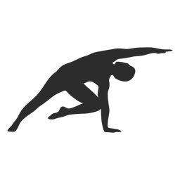 Yoga pose stretch silhouette