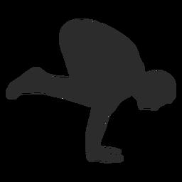 Silueta de cuervo de grúa de yoga