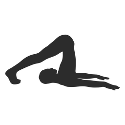 Yoga stretch exercise silhouette