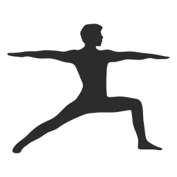 Yoga Krieger Pose Silhouette