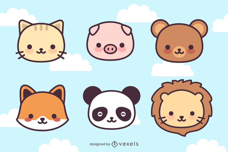 Cute Kawaii Animal Head Set
