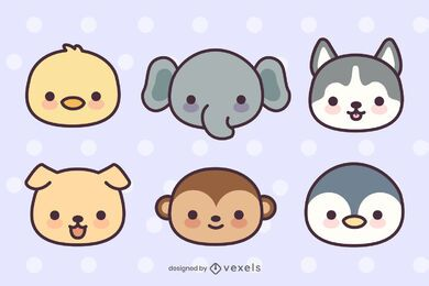 Cute Animal Head Pack