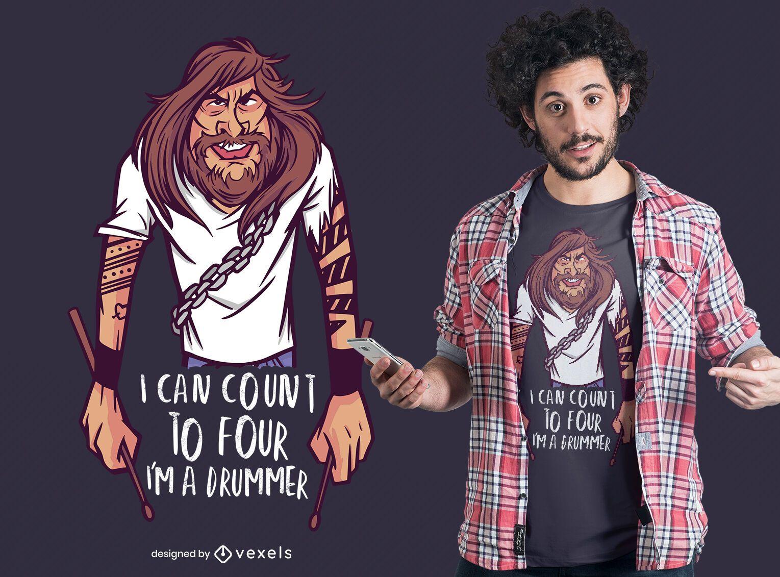 I'm a drummer t-shirt design