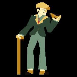 Personagem de tubo de cana-de-homem art déco dos anos 20