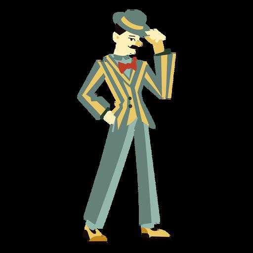 A?os 20 art deco hombre punta sombrero personaje